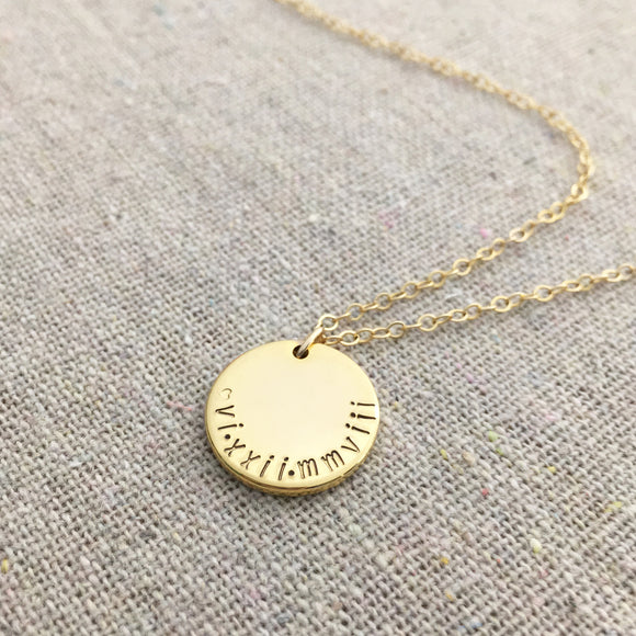 When in Rome Disc Necklace