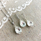Medium Taper Pavé Earrings • Crystal