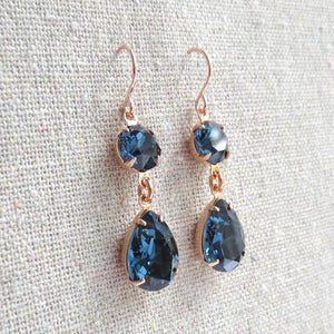 Diamante Taper Dangling Earrings