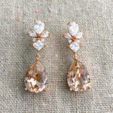 Taper Royal Dangling Post Earrings