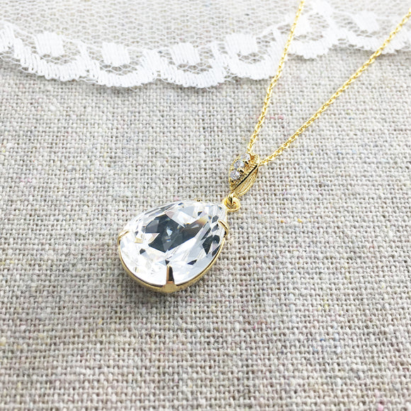 swarovski crystal pendant bridal necklace