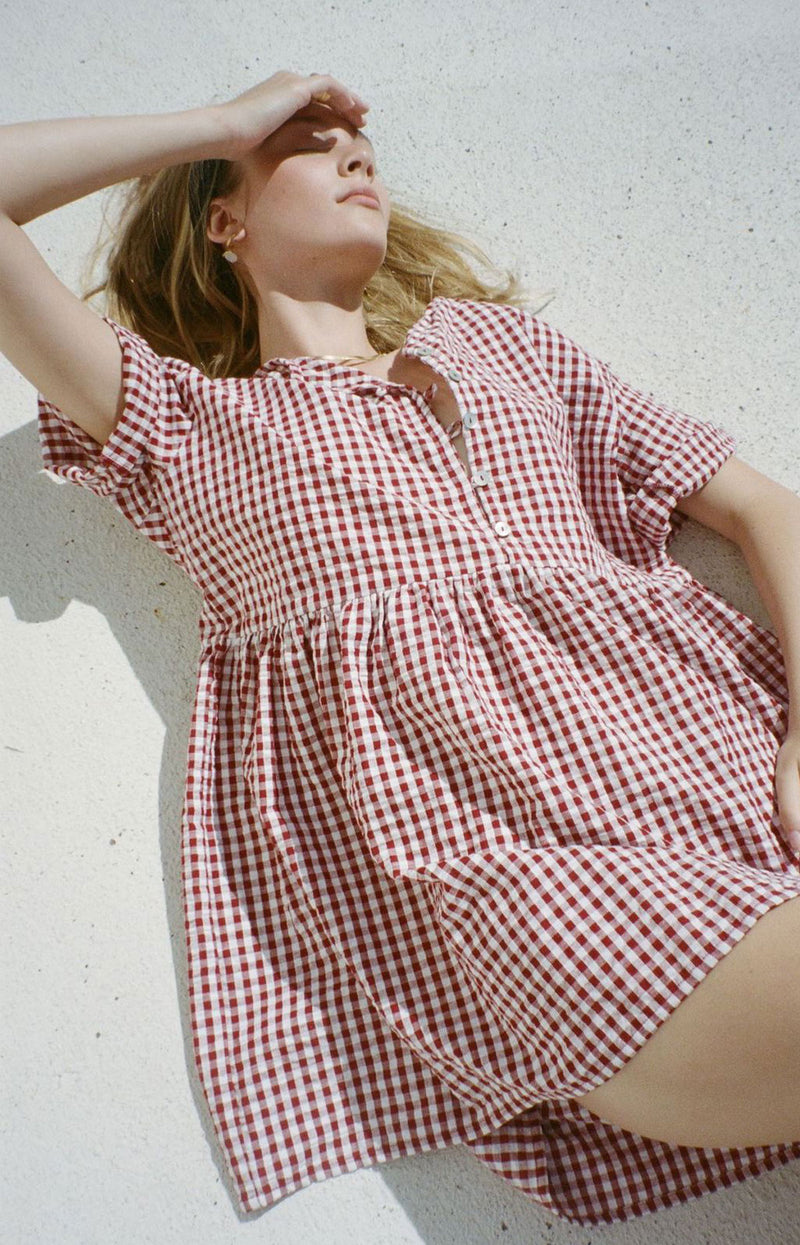 Darcey Gingham Dress Red (PRE ORDER)