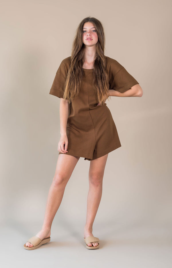 Bronte Playsuit Chocolate