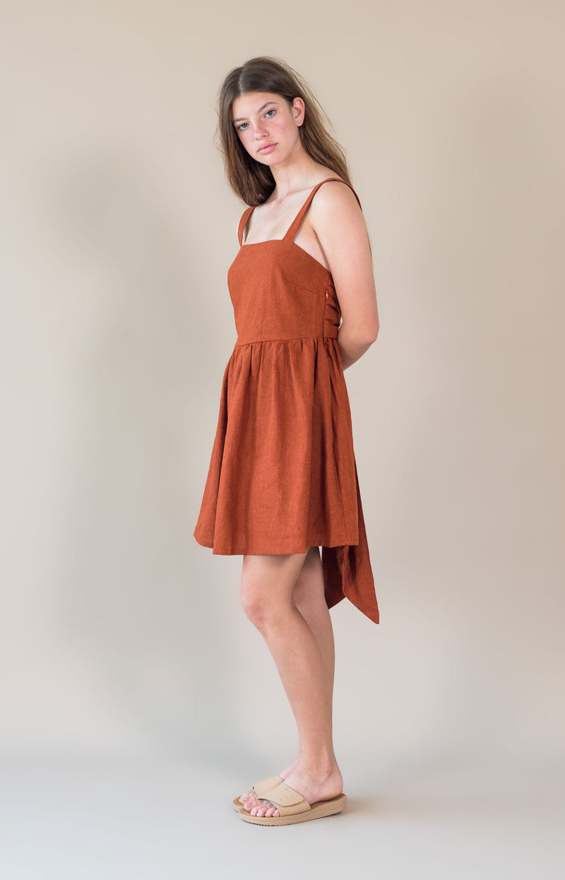 Maisie Dress Rust