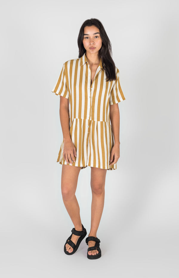 Penny Playsuit Amber Stripe