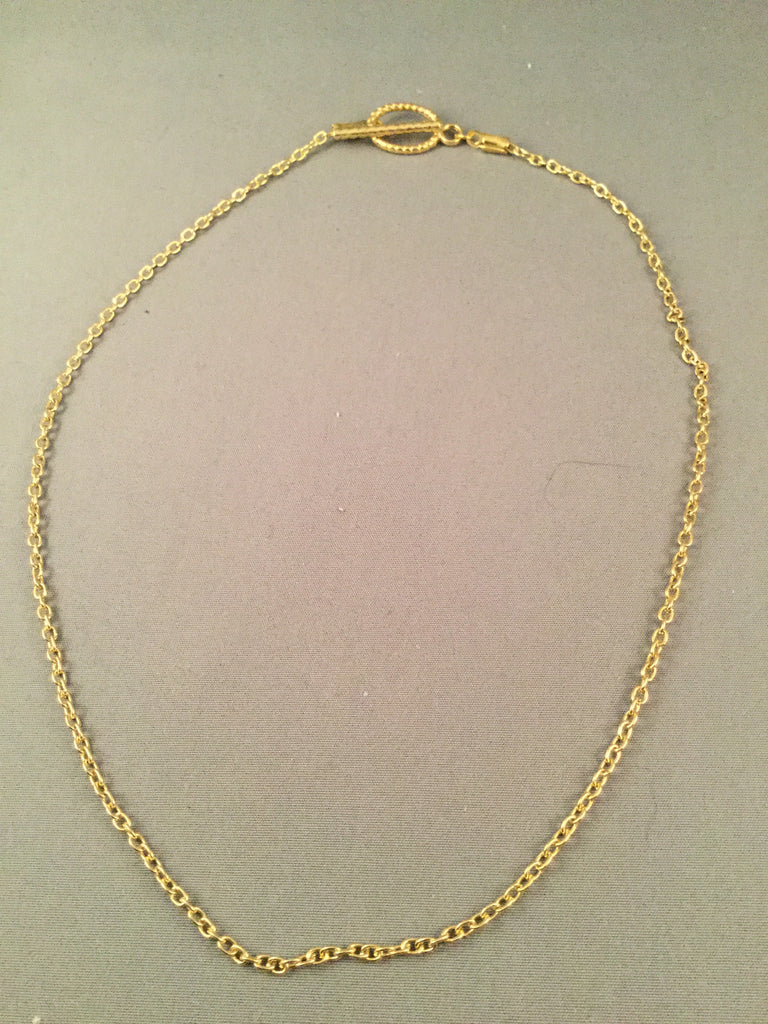 Small Simple Gold Chain Necklace
