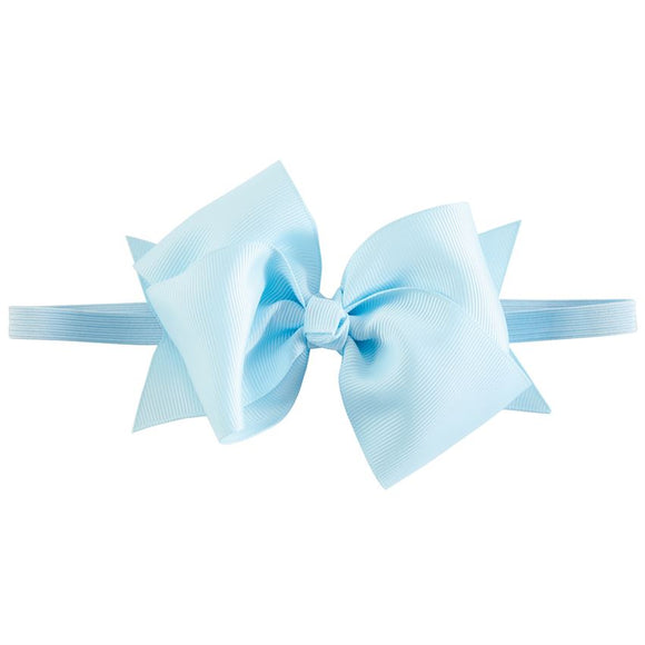 Light Blue Bow Soft Headband