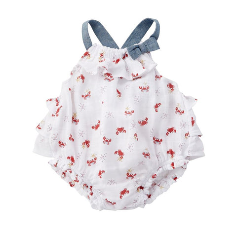 Crab Muslin Ruffle Bubble