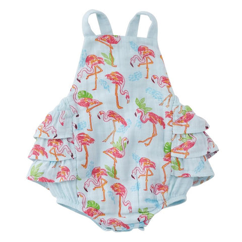 Flamingo Ruffle Bubble Sunsuit