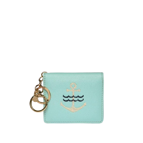 Embroidered Anchor Card Keychain
