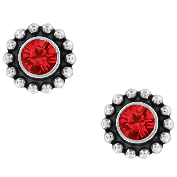 Twinkle Mini Post Earrings in Ruby