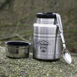 The Adventure Begins Steel Food Flask & Spoon