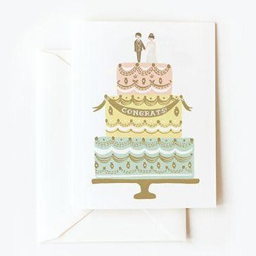 Congrats! Wedding Cake Card