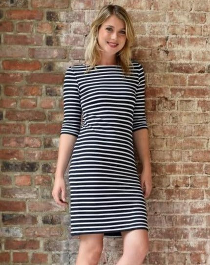 Propriano II Form-Fitting Nautical Striped Dress