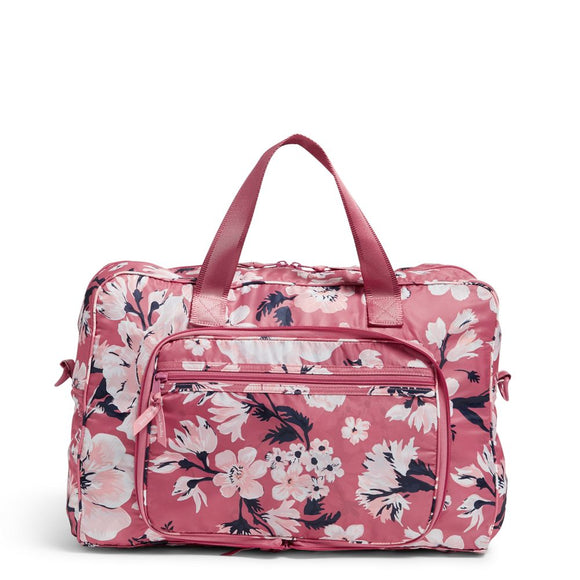 Packable Weekender in Strawberry Grand Garden