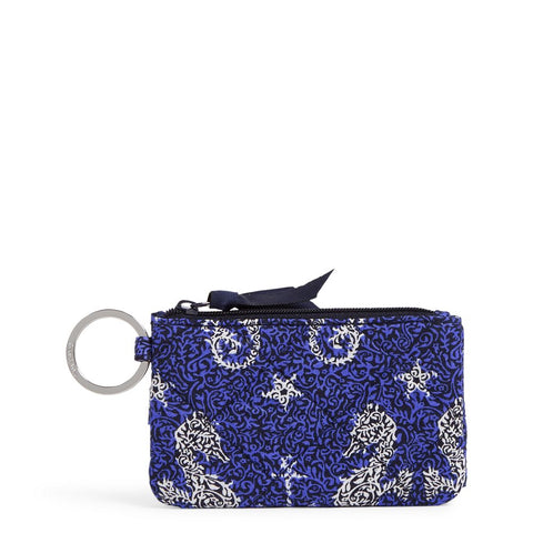 Iconic RFID Deluxe Zip ID Case in Seahorse of Course