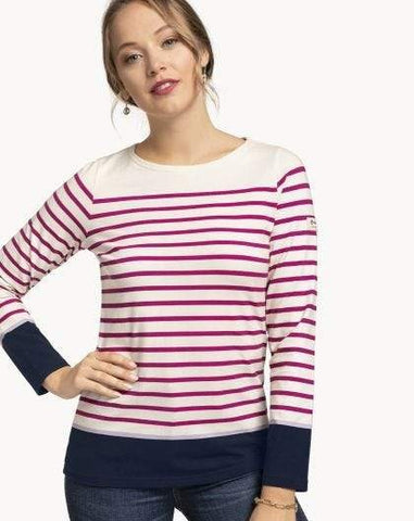 Fuchsia Stripe Yacht Club Top