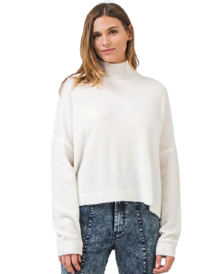 Turtleneck Sweater in Ivory
