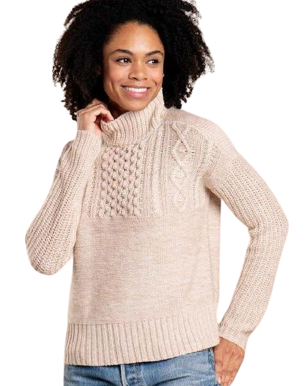 Tupelo Cable Sweater in Oatmeal