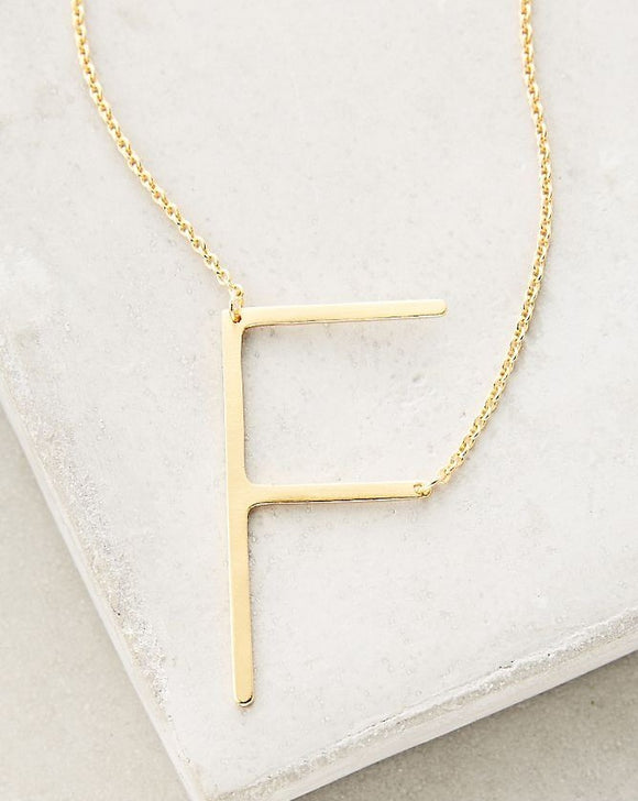 F Letter Necklace