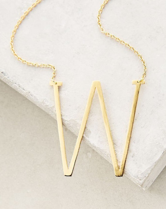 W Letter Necklace