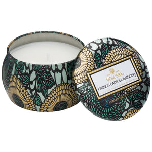French Cade & Lavender Mini Decorative Tin Candle