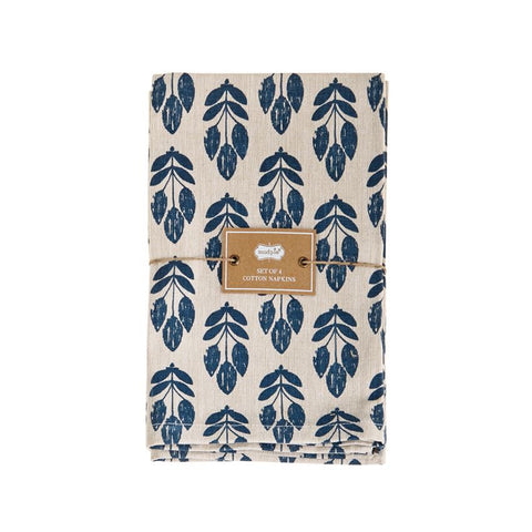 Blue Wheat Napkin Set