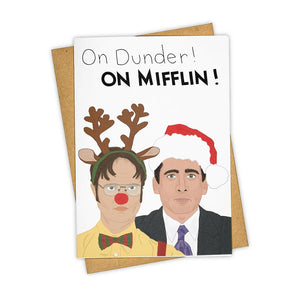 Holiday On Dunder! On Mifflin! The Office Card