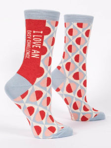 I Love An Easy Challenge Women's Crew Socks