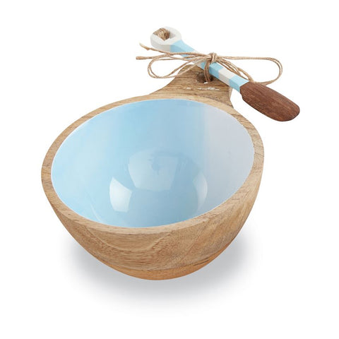 Blue Beach Wood Dip Bowl Set