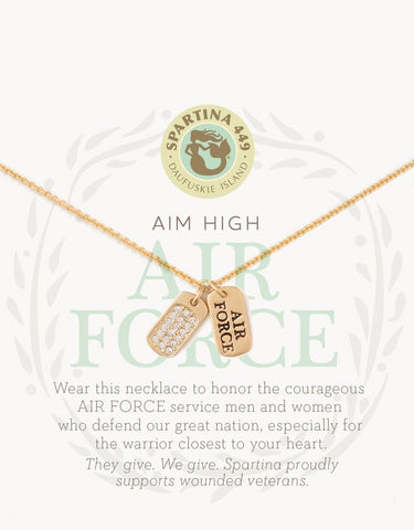 Sea La Vie Mermaids for Military Air Force Necklace