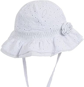 Baby Girl Bell White Hat