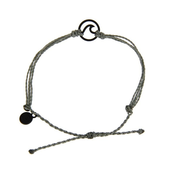 Grey Black Wave Charm Bracelet