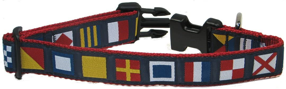Nautical Flag Dog Collar