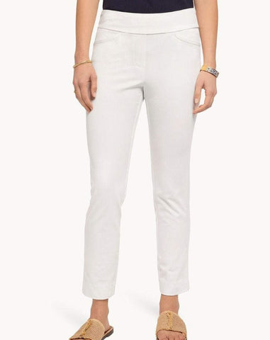 Maren White Pull On Pants