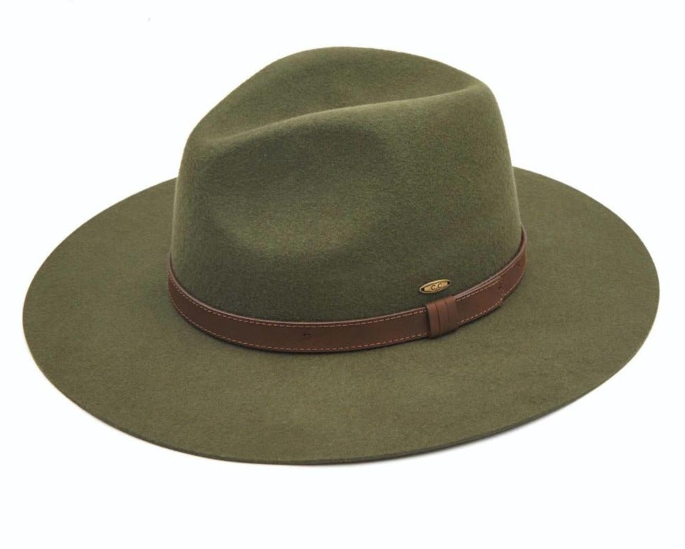 Australian Wool Felt Panama Hat Featuring Leather Band