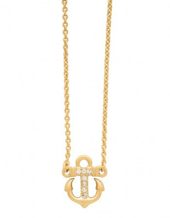 "Sea La Vie Necklace 18"" Trust / Anchor"