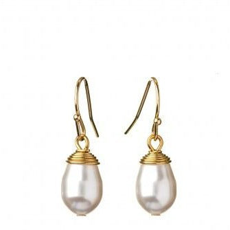 Sea La Vie Drop Earrings Find Peace / Pearl