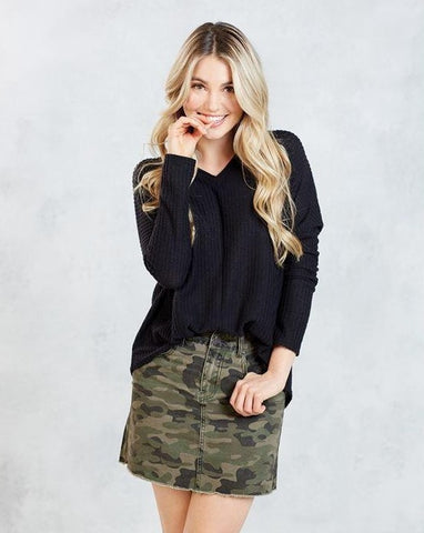 Green Camo Stevie Mini Skirt