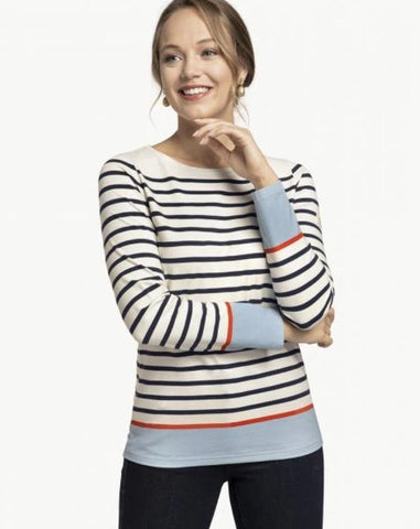 Navy Stripe Yacht Club Top