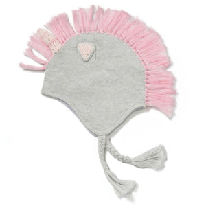 kids unicorn hat angel dear pink mane grey hat