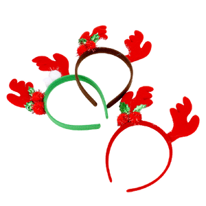 Red Reindeer Headband