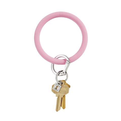 Cotton Candy Pink O Key Ring