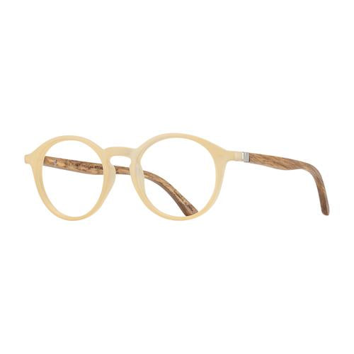 Hayden Matte Light Beige & Walnut Wood - Blue Light Readers