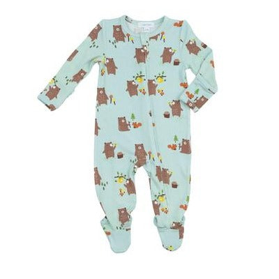 Baby Bears Zipper Footie