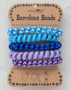 Barcelona Bands Paracord Blue Coil Hair Bands