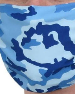 Blue Camo Face Mask XL
