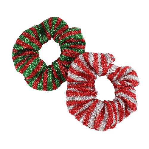 Festive Holiday Scrunchies
