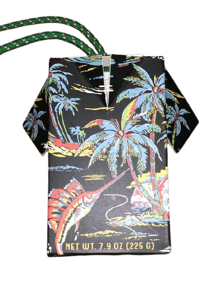 swordfish black soap on a rope with palm trees