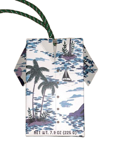 palm trees white soap on a rope with sailboats